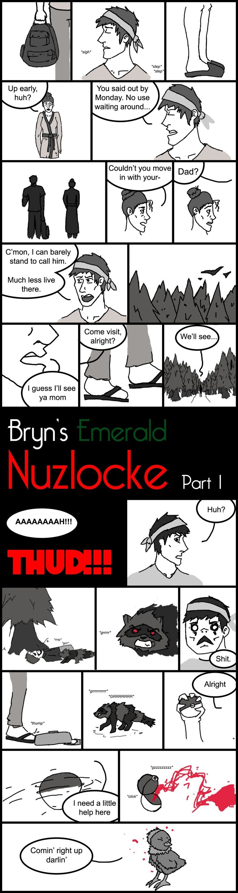 Bryn's Nuzlocke: Part 1. OC! Here's part 1! There's a number of things that I will be trying to improve upon in the future! Thanks for reading! Prologue: funnyj