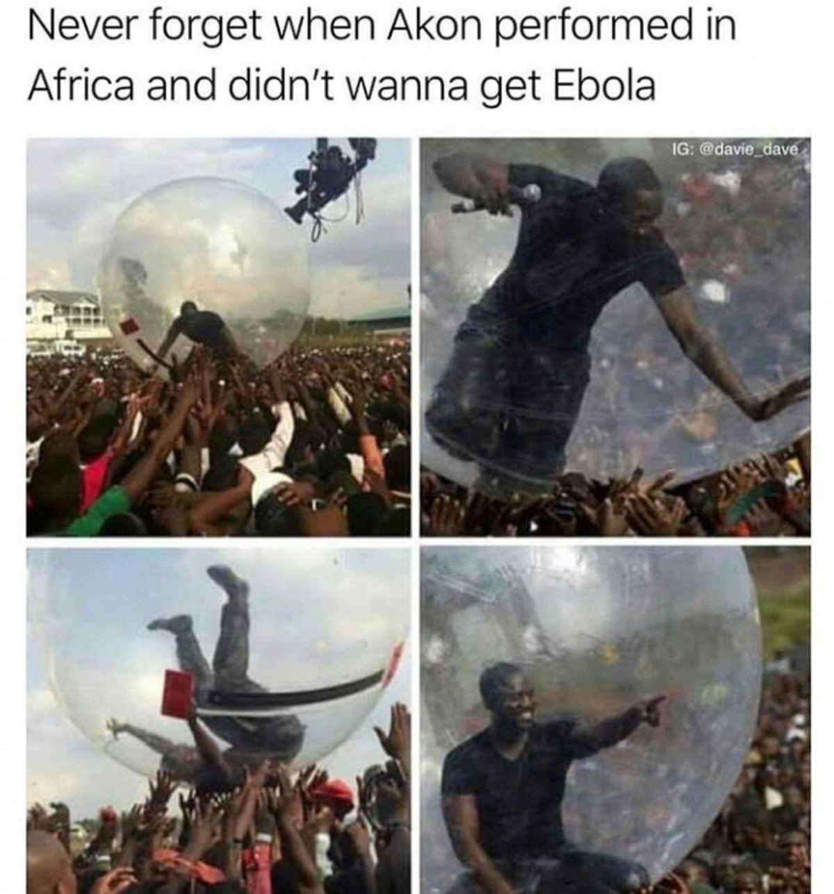 bubble boy. .. I'm surprised they were strong enough to lift him. You know with all that starving. Alexa play Africa by toto...