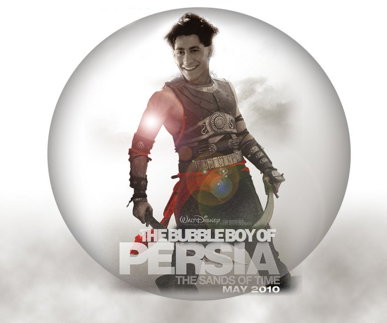 Bubble Boy of Persia. Bubble Boy visits his roots in Persia... my name: christian lee my comment: HAHAHAHAHAHAAHAHHAHAHAHA i seriousily cant stop laughing. i saw that movie and it made LOL and seeing prince of persia afterw