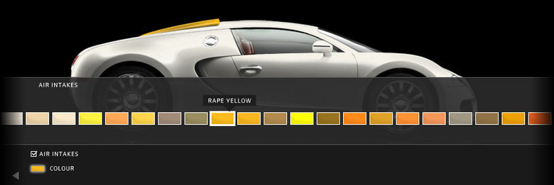 Bugatti Veyron, now available in:. . AIR Emu STAKES Z CC) LCOR RAPE YELLOW. hmm.. samme color maybe?