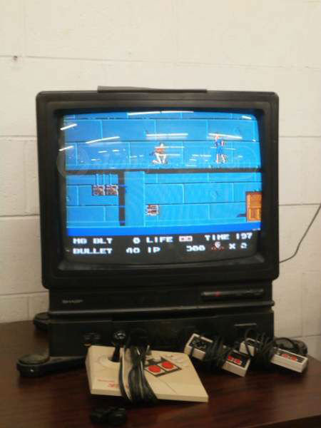 built in nes. just saw this tv with a built in nes up for bid from goodwill. just posting because maybe some fj users might be collectors .. i could make a custom one any time...it'd be simple