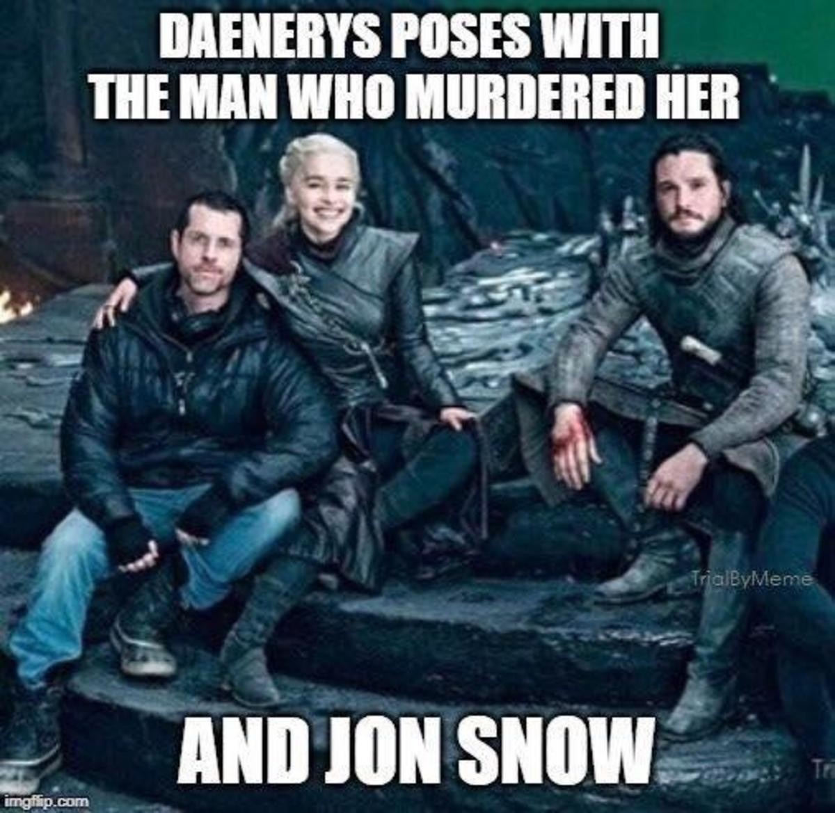 Burned. .. Mad Queen Dany could have been interesting. If they hadn't executed it with the finesse of a drunken elephant in a pottery store.