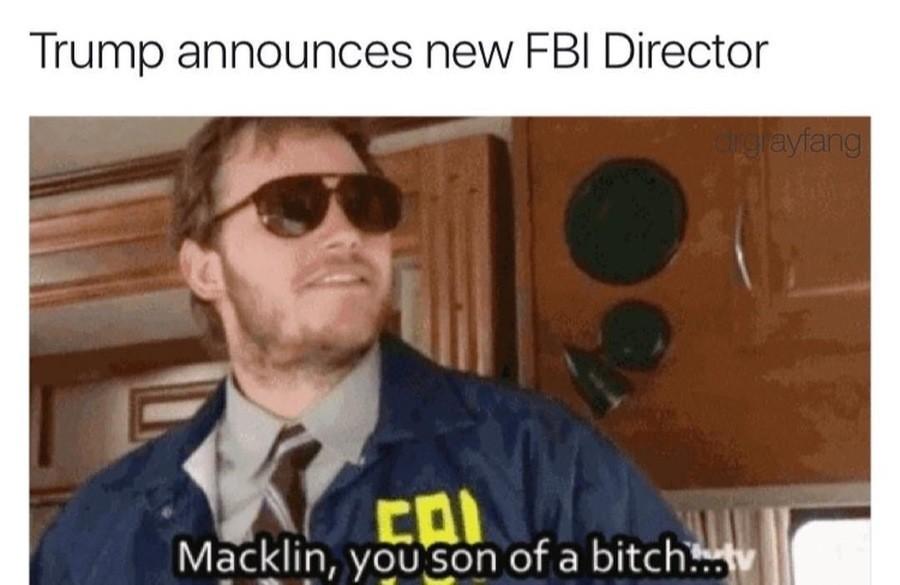 Burt Macklin. . if EDI. Why FBI? When you can have CIA.