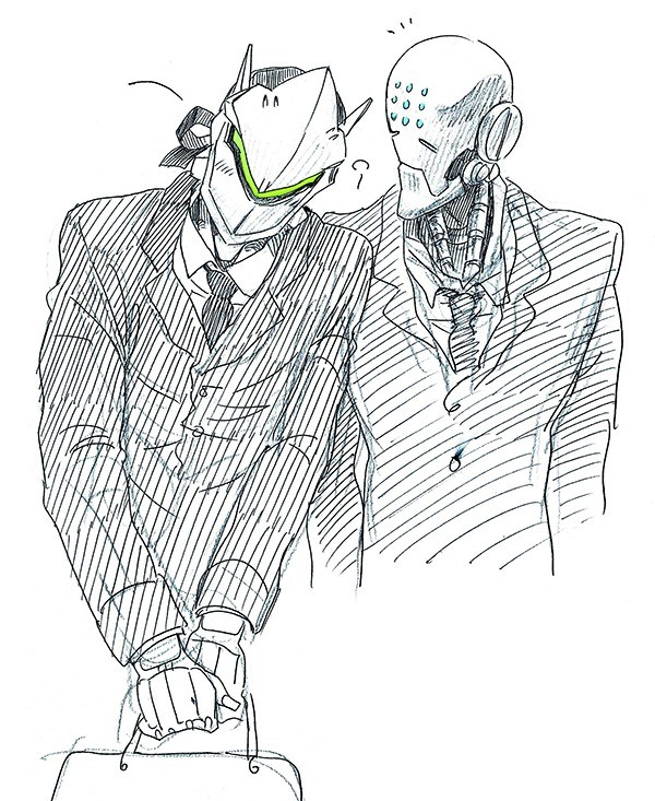 Businessmen. .. Is it gay if Zen is technically an asexual robot?