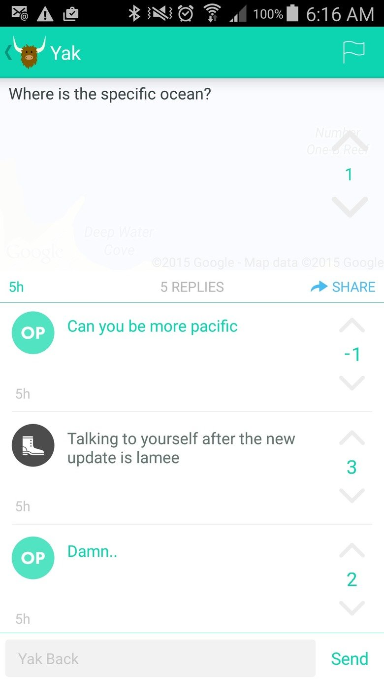 Busted. . Jaak Where is the specific ocean? 5 REPLIES ti SHARE Can you be more pacific Talking to yourself after the new update is Iamge 3 tlt Damn.. Yak Back S