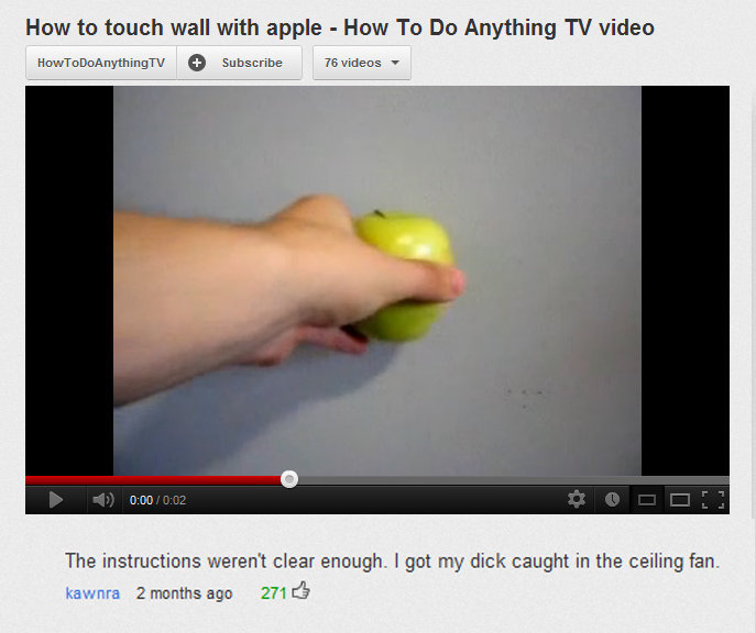 """But how do i how?. . Haw to much wall with apple - Hem: To De Anything TV video The 1"""" ?. weren' t deer enaugh. I get my dick caught in the ceiling fan. Ice'. -"""