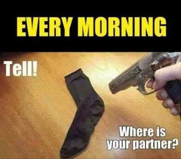 But i already did that a while back. .. Life is way too short for finding matching socks