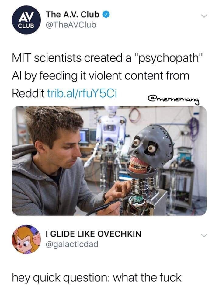 but why. .. They created a prison gay autist by feeding it funnyjunk