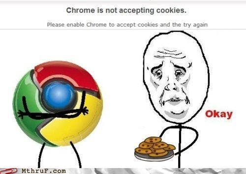 But I baked it just for you!. From: . Chrome is nat accepting . Please enable Chroma ta collars and the try again fl Mt: hrut' mum. <---- Always accepting cookies.