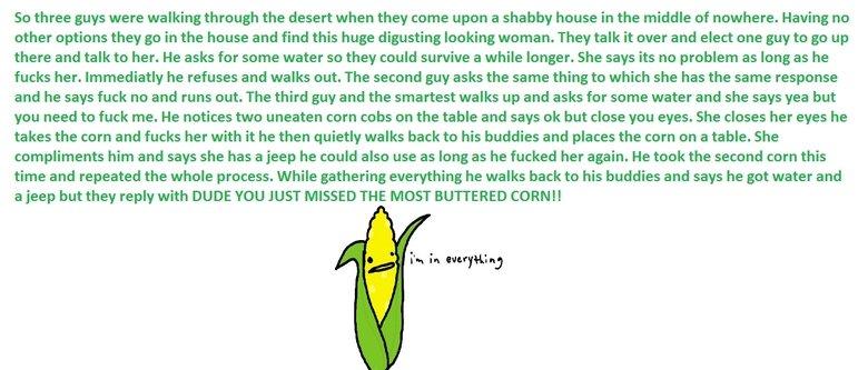 Buttered Corn. .. STOLEN.
