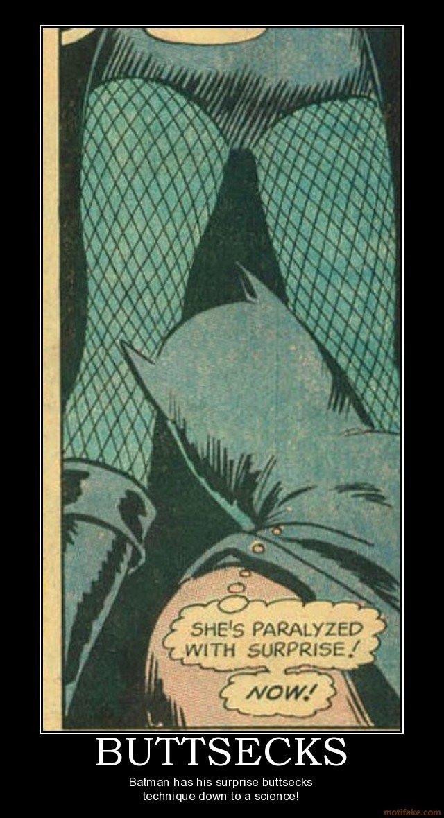 Buttsecks. . Batman has his surprise buttsecks technique down to a science!