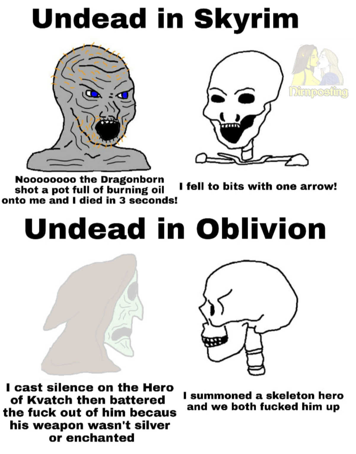 capable psychedelic Trolls. .. Oblivion skeletons did not around