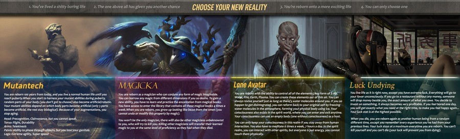 Choose Your New Reality. .. Okay, but who in their right mind wouldn't pick Luck Undying? I think it's the best choice.Comment edited at .