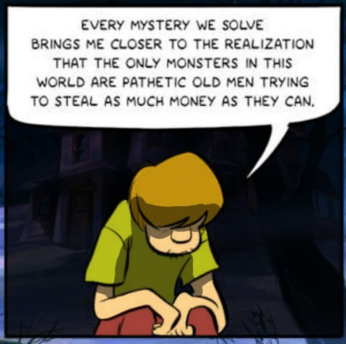 Christ shaggy. join list: CartoonsGalore (168 subs)Mention History join list:. the real monster was society all along