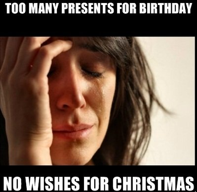Christmas problems. . TIN] PRESENTS Hill tio WISHES Hill l} ' _