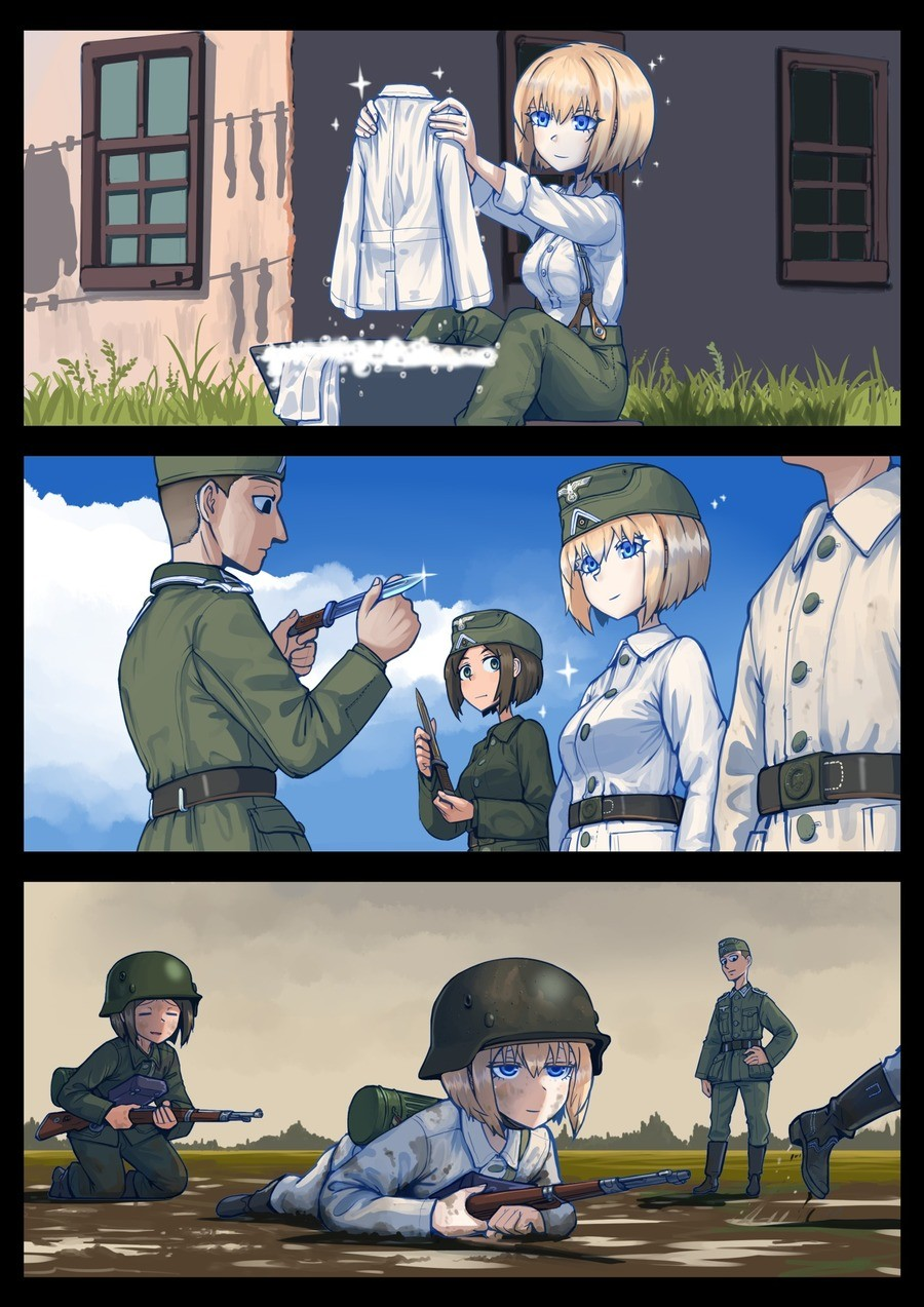 Clean Uniform. Source: .. rember kids, the knight in shining armor has seen narry a foe's blow