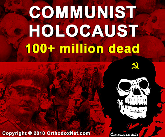 """communism kills. the purpose of this is to show the other """"holocausts"""" that are mostly unheard of and usually carried out by communists. And Although"""
