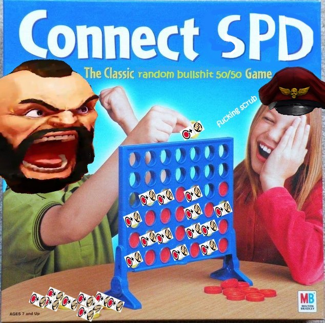 Connect Four SPDs in a row to win!. Here is a exemple :. Connect Slowly. Zangief is a bad-guy but hes not a bad guy