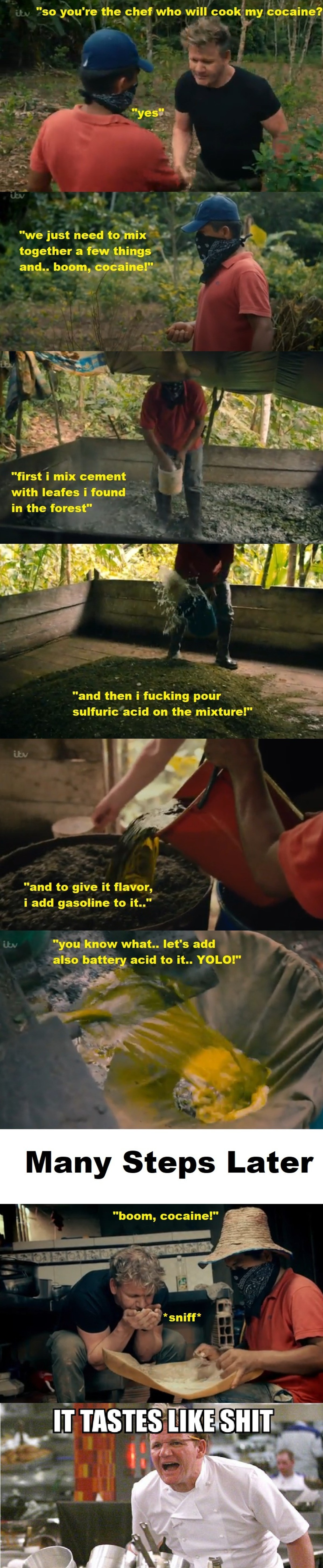 cooking cocaine like a pro... .