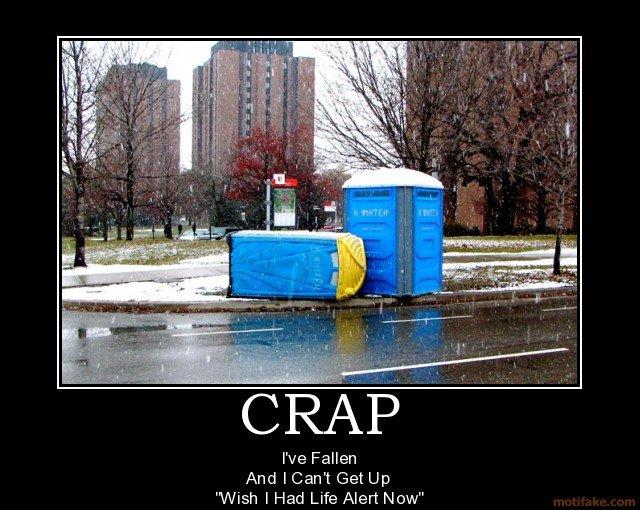 Crap. .