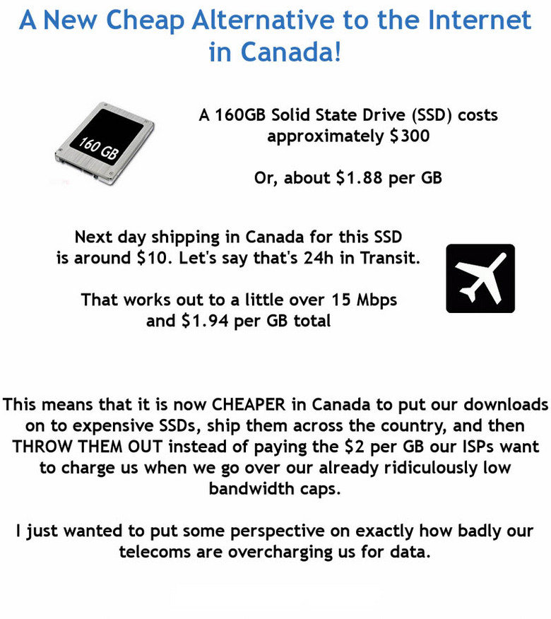 Dang Canada. Found with SU, I laughed when I first read it xD<br /> By the way, tags..... my 500 GB external hardrive was like 90 bucks....