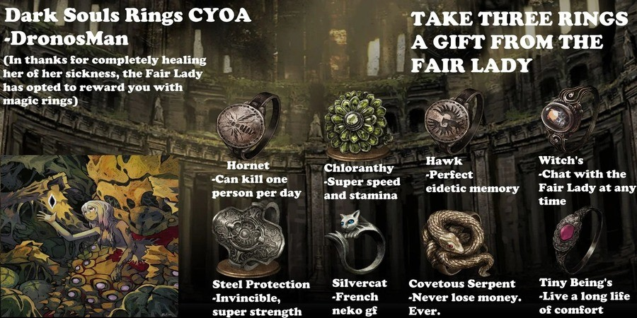 Dark Souls Ring CYOA. .. On one hand Neko GF, on the other Frnch.