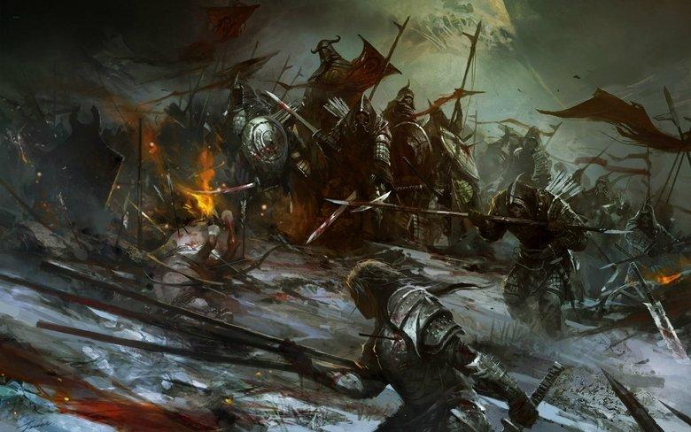 D&D stories thread. Last night we were in a battle: my human warlord, a human duelist, a dual wielding explorer-warrior, a dark paladin, a minotaur barbarian, a