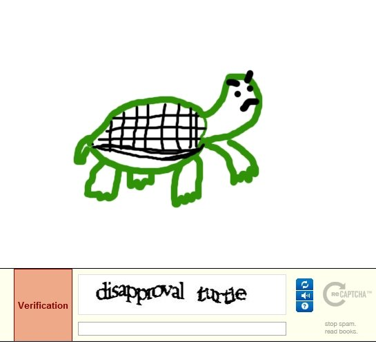 Disapproval Turtle. . tvi aal! mum'. haha! is funny beacuse you drawed it instead of writting it