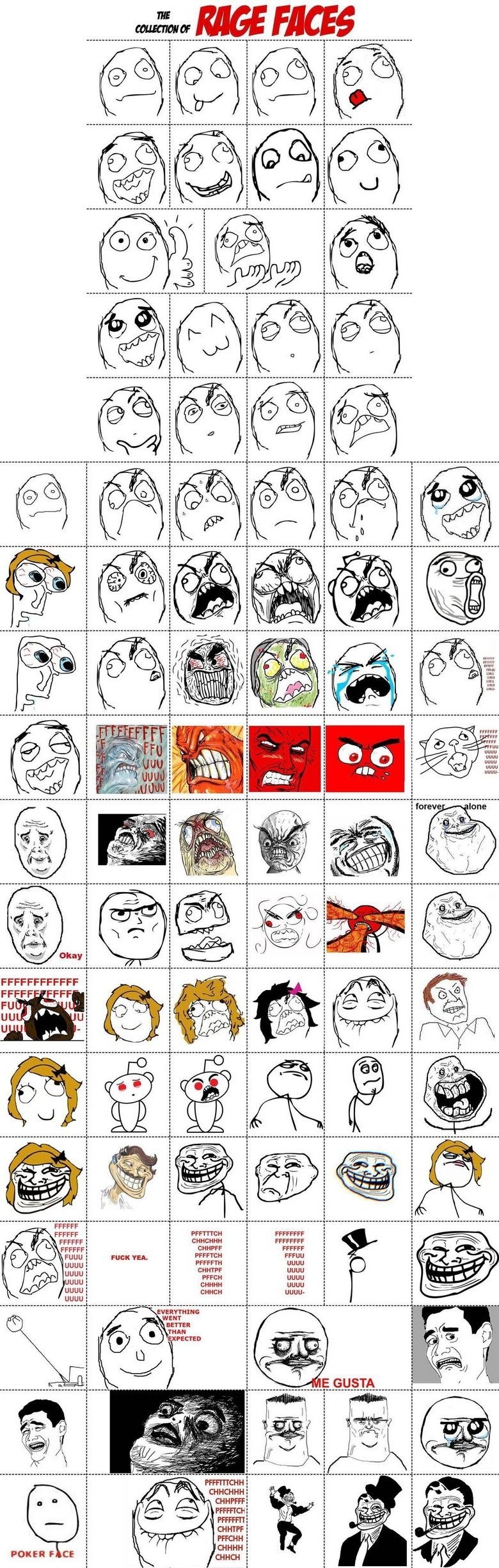Does anyone need this?. Just a list of faces, probably to make comics. I dont think alot of people have this, and they just get off google images or sumthin'. N