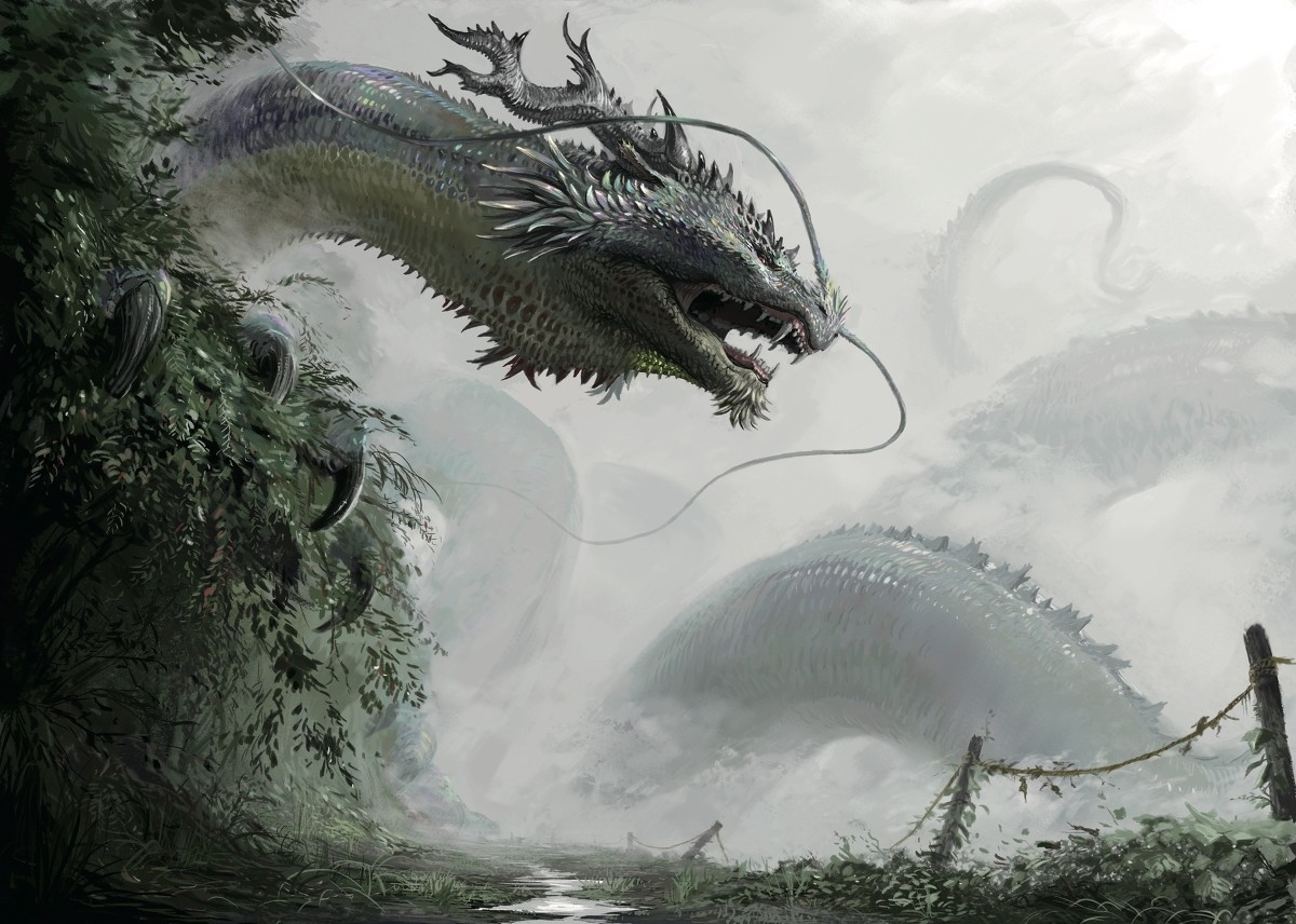 Dragon by 輝櫻 (Teru Ying). .. I like to imagine that some of our fantasy creatures exist somewhere in the universe.