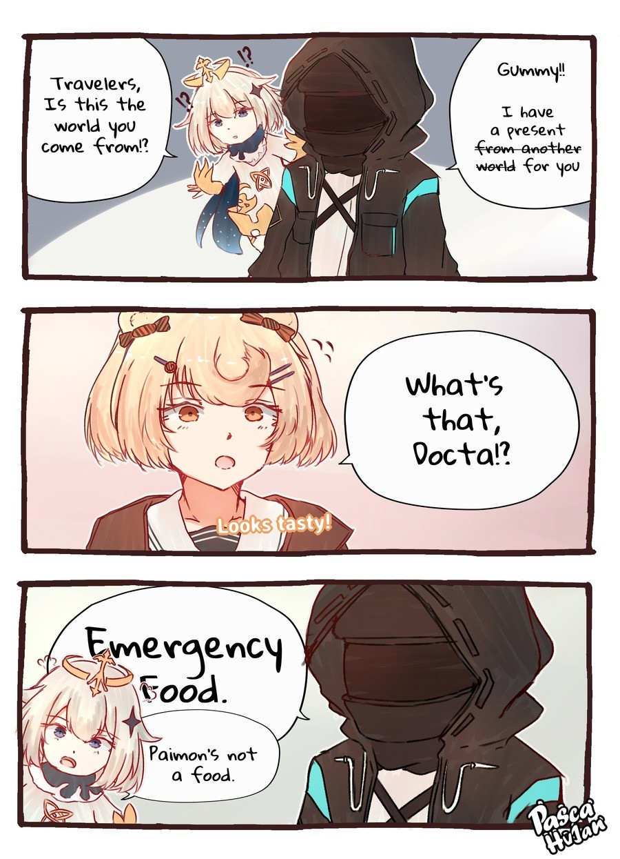 Eat it. .. Based on stories, doesn't really matter if Paimon is food or not, Gummy's used to eating people.
