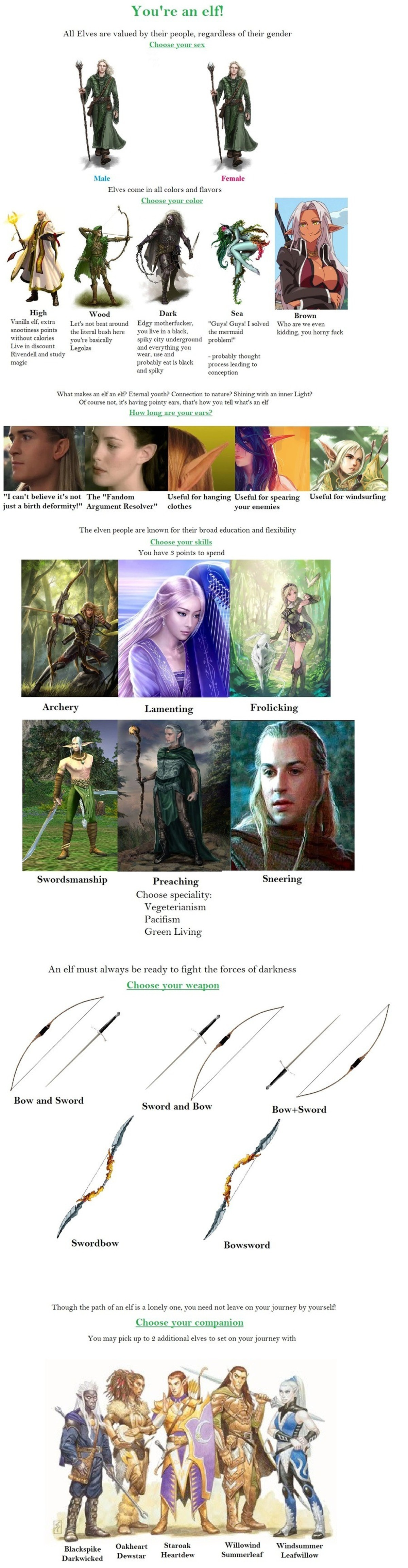 Elf CYOA. .. Where's the option to make them dead? By Grimnir this list is incomplete.Comment edited at .
