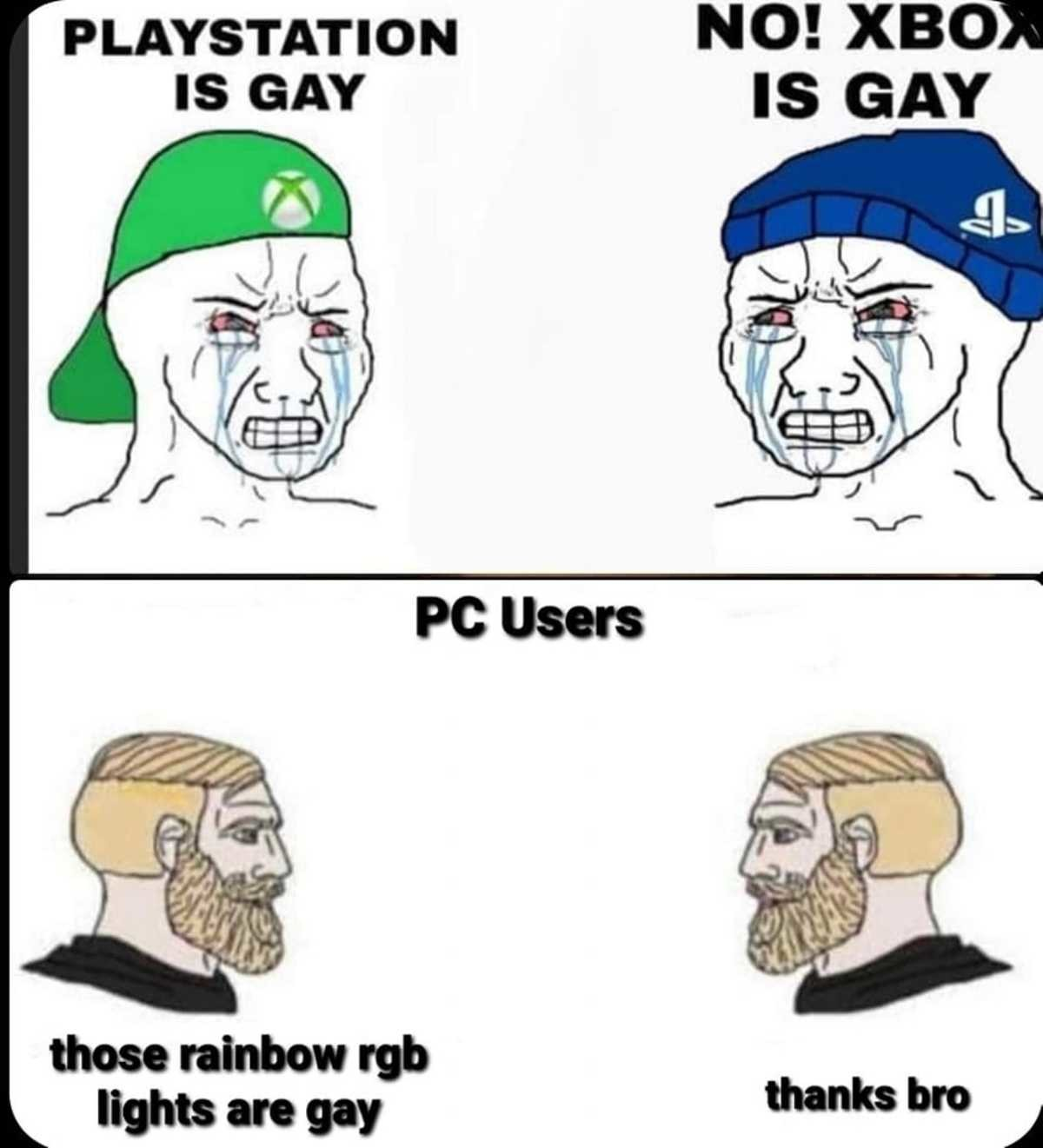 elfin Skunk. .. Hey, hey, all gamers are gay.
