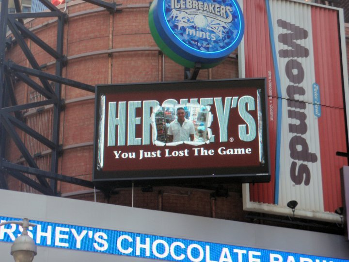 epic trolling. hersheys store in new york times square.