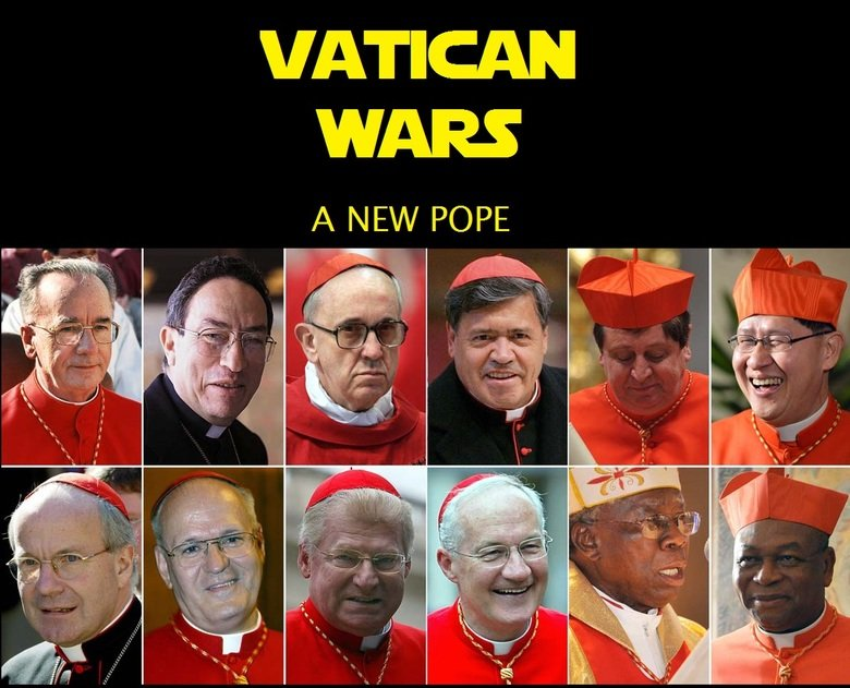 Episode VII?. I just did this in no time. OC. VATICAN WARS h/ POPE. I got my money on the bottom row third from the right.