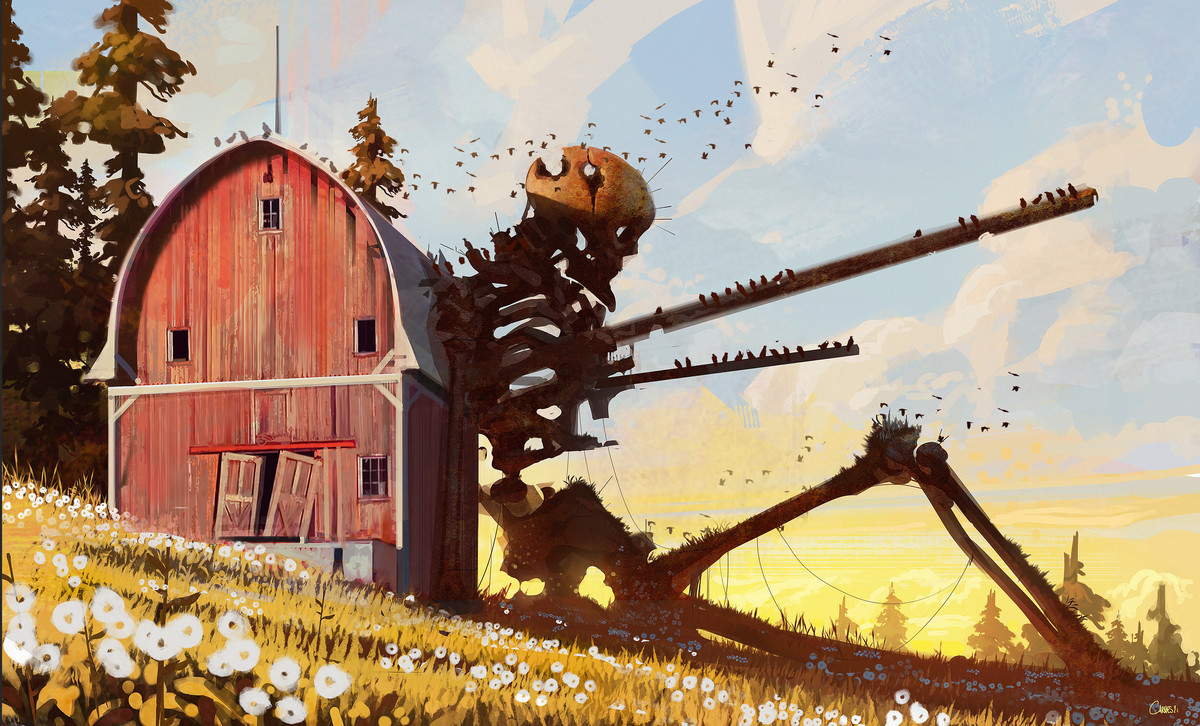 Fallen Champion by Jocelin Carmes. .. sturdy barn tho