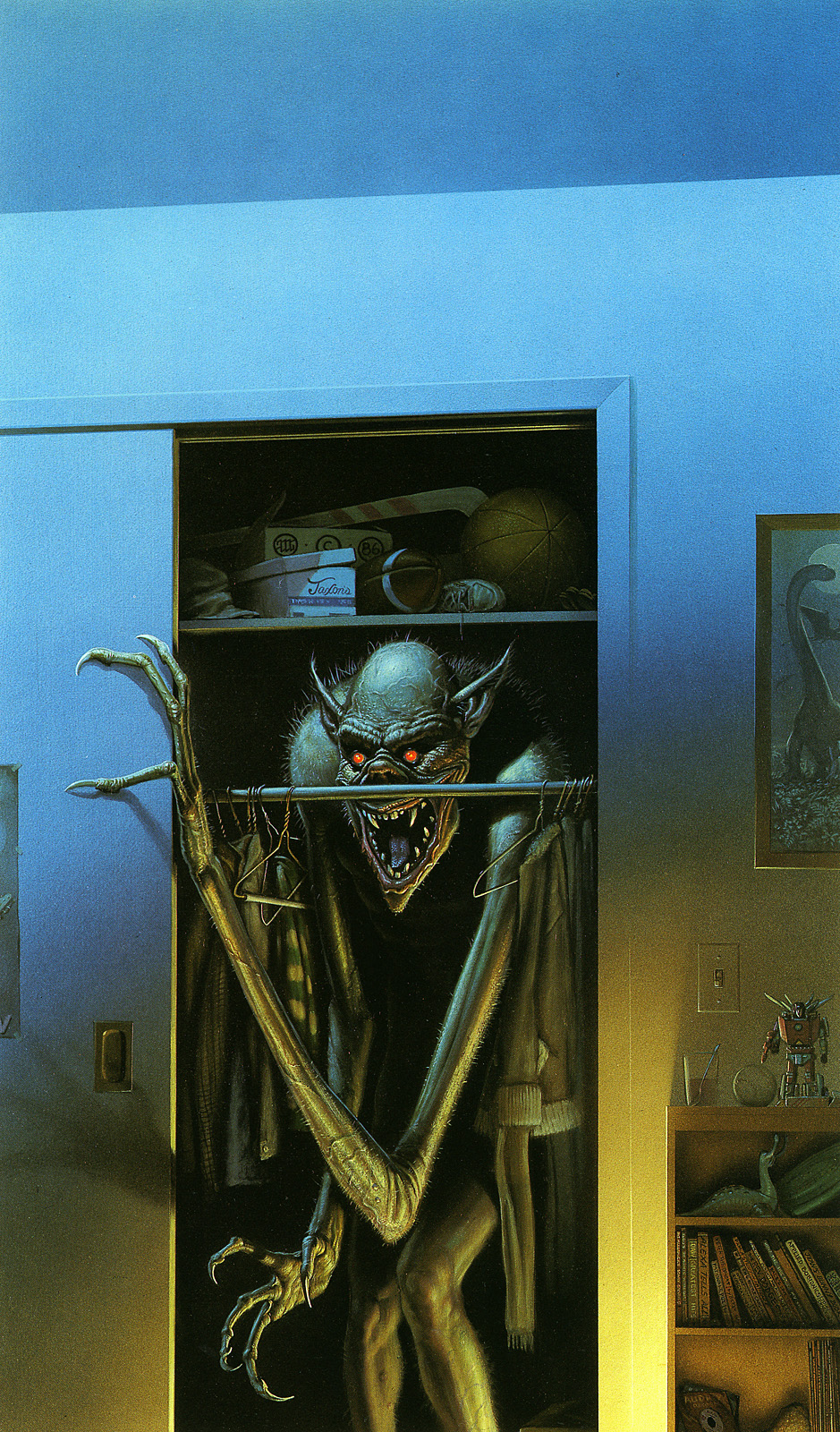 Fantasy and Horror art. Boogeyman. The following set of pictures are artwork by Michael Whelen, and following whelen's will be a set of artwork by Frank Frazett