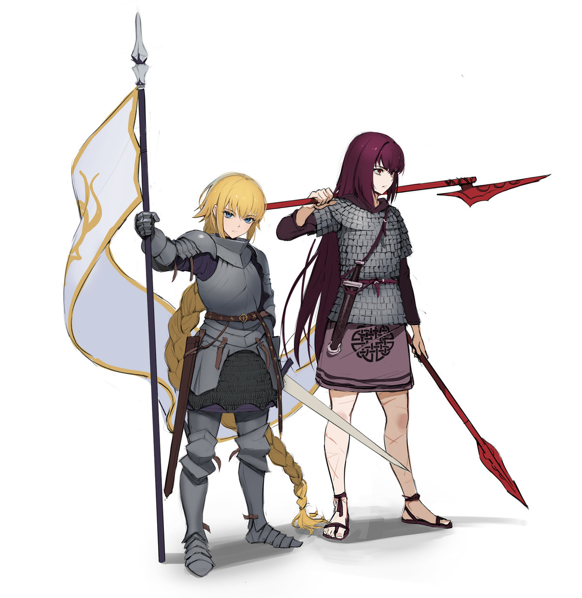 Fate Girls with Armor. ..