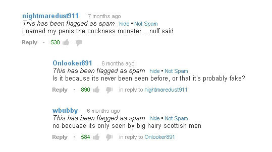 Fear the Cockness Monster!. The tags lie. 7 months ago This has been flagged es seem hide . Not spam i named my penis the newness monster... nuff said Reply . 5