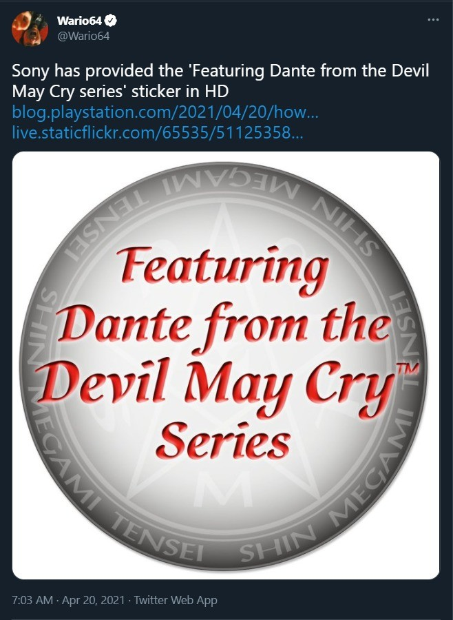 Featuring Dante From the Devil May Cry Series. .. Goddamn that bitch is crisp. Now we need a Vergil one.
