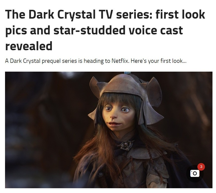 First look at the Dark Crystal: Age of Resistance. join list: AllThingsTV (13 subs)Mention History.. Oh boy yes! I remember the Skeksis being absolute nightmare fuel as a child.