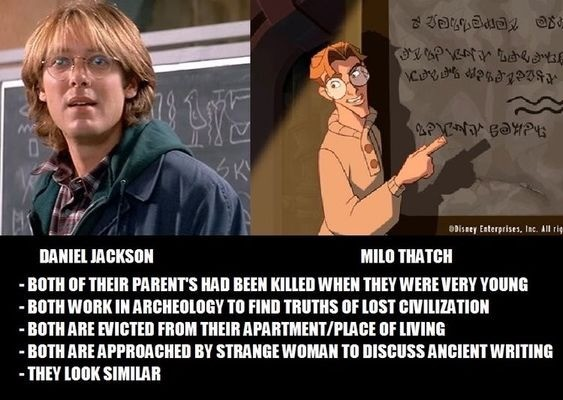 five Cheetah. .. tbh I never really liked the Daniel Jackson from the movie. The version from the series ftw