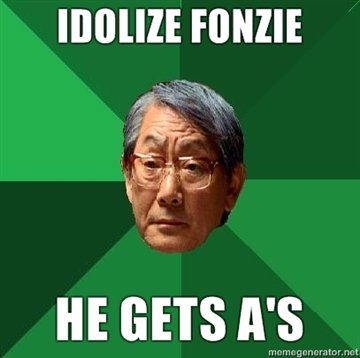 Fonzie. Ayyyyyyyyyyyyyyyyyyyyyyyyyyyyyyyy Not sure if OC but I didn't find it anywhere?.
