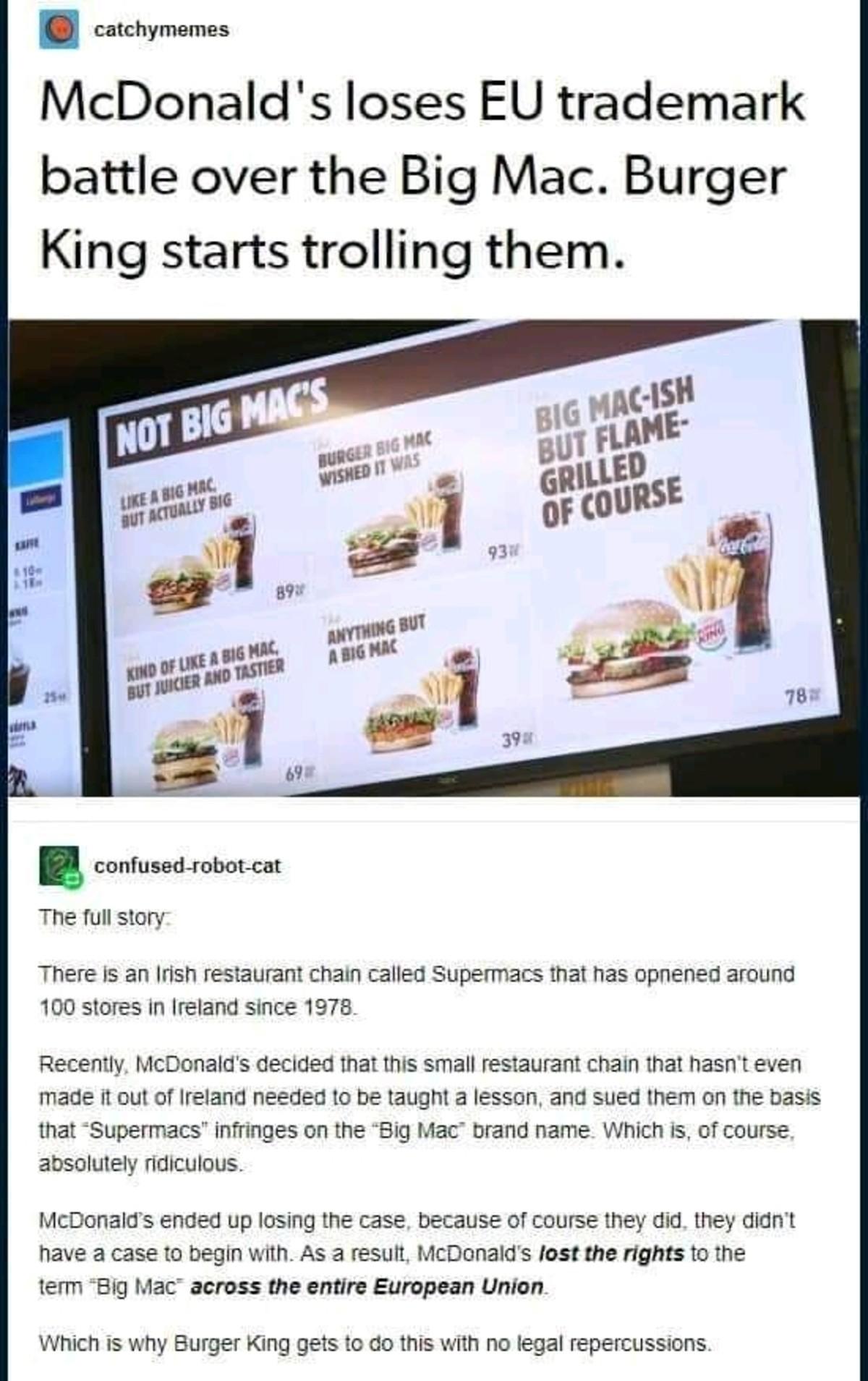 """Food is good. .. """"Big mac but worse"""""""