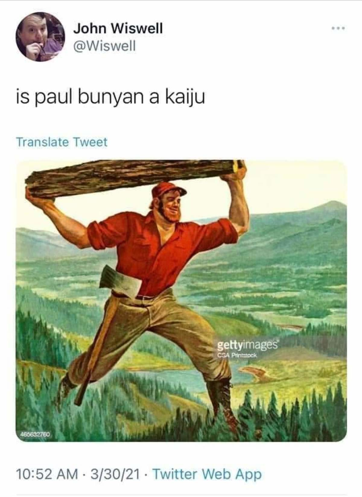 formative fat hysterical Stingray. .. If Paul Bunyan doesn't count because he's human, then Babe must because it's not.