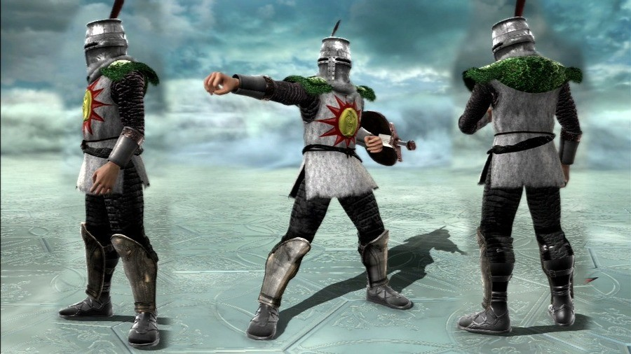 FreeMeal. Solaire So theres a guy on deviantart who remakes characters in soul caliber six with lots of attention to detail called Freemeal Artorias Shiva Oswal