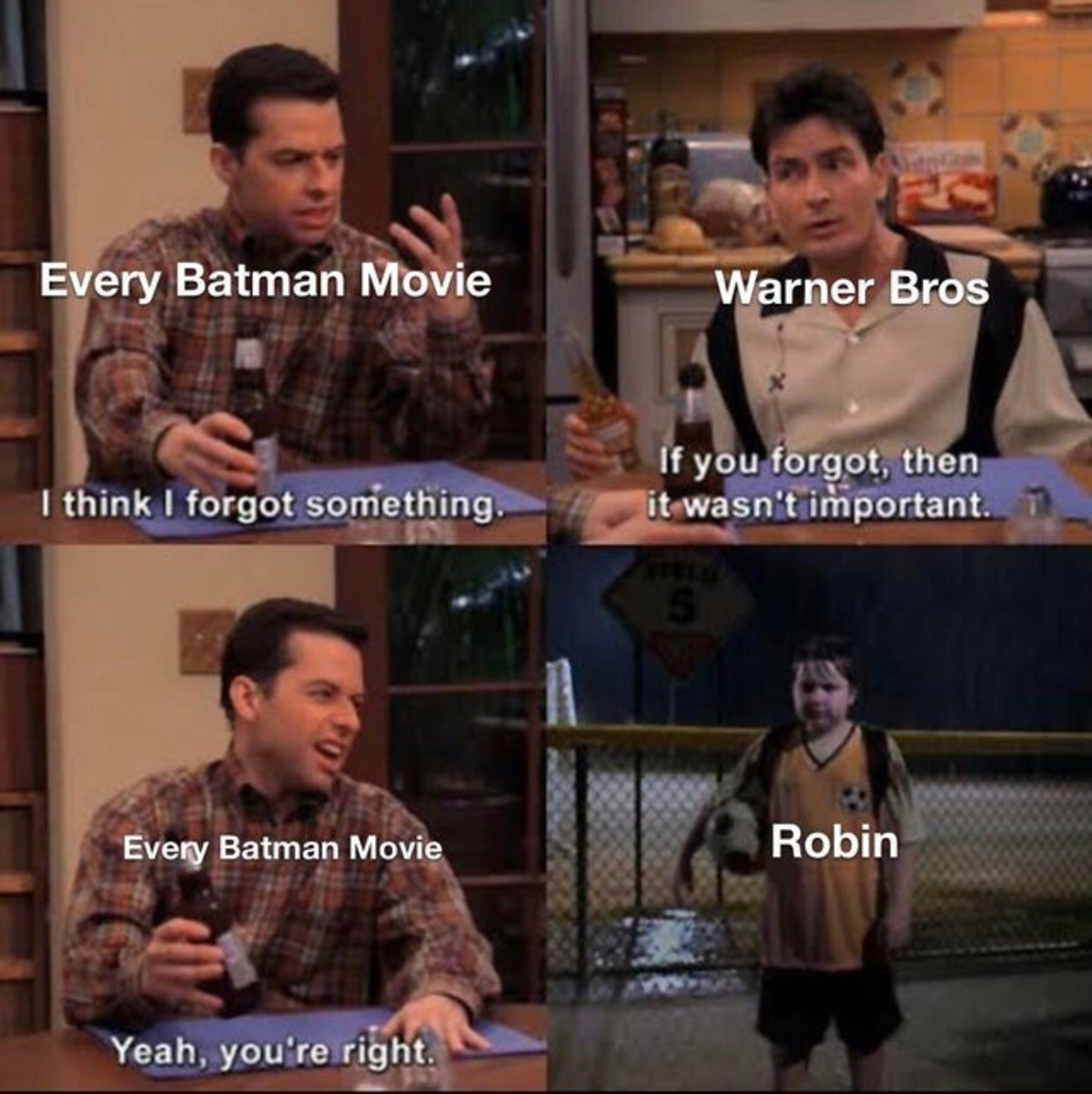 frequent Seahorse. .. christian bale made it a part of his contract that robin was to never show up in the films he was in.
