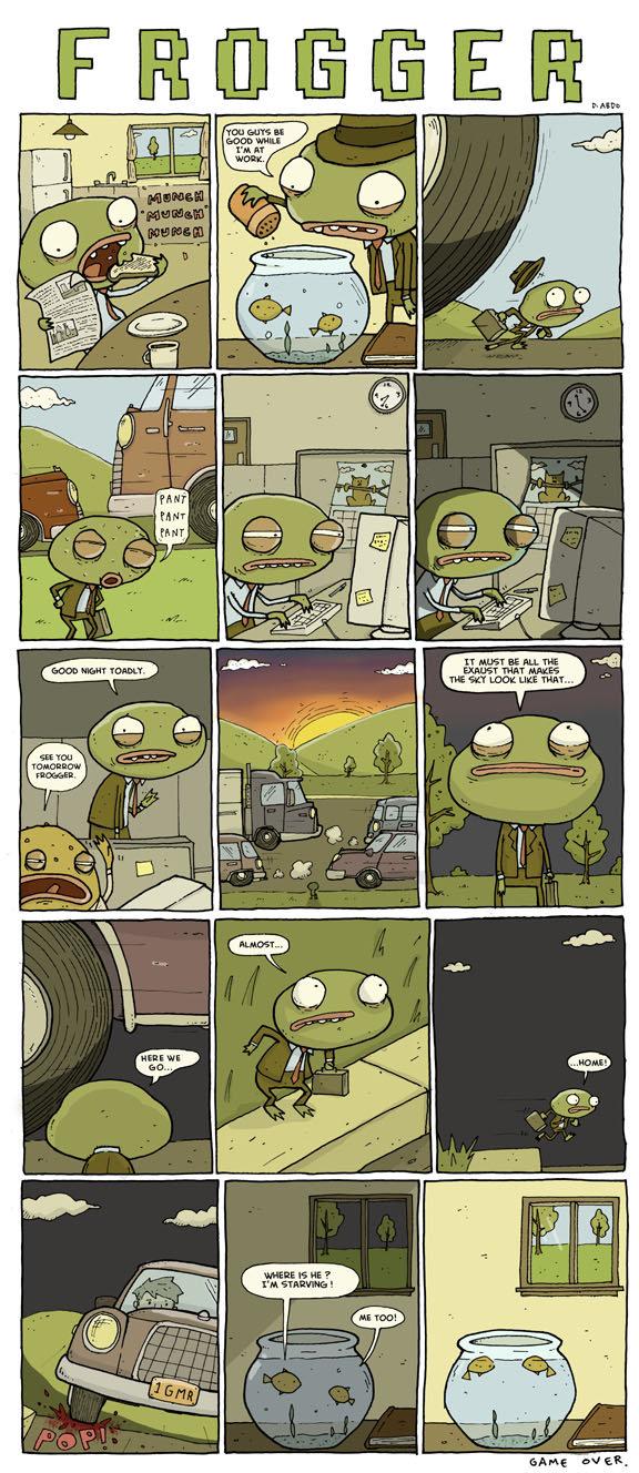 Frogger's Busy Life!. Poor bastard..