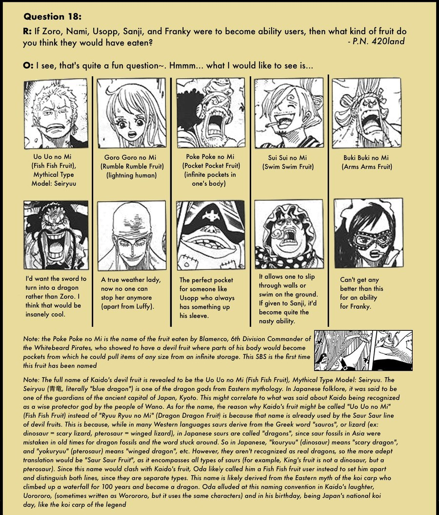 From the SBS. join list: onepiece (236 subs)Mention History.. I might need to commission some art of au Nami with goro goro no mi fighting. Completely changes the dynamics of her character.