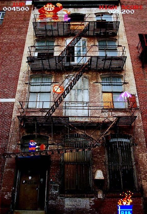 Fun with FireEscapes. Here, have some beautiful memories... Now THAT's clever! Kudos.